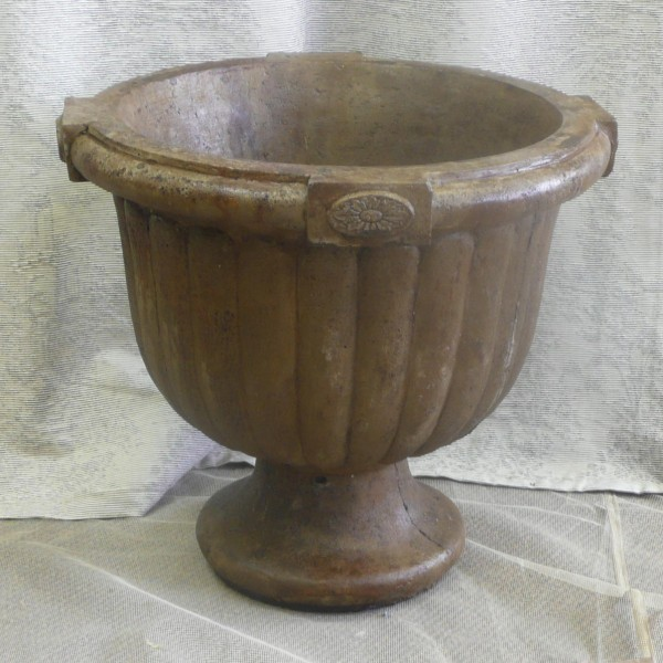 American Colonial Urn, stained concrete planter pot for outdoor garden or patio