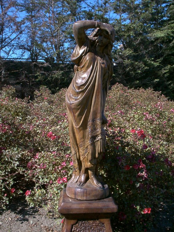 Bella Donna acid stained concrete statue for outdoor garden or patio