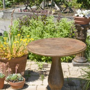 Bistro Table, stained concrete table for outdoor garden or patio