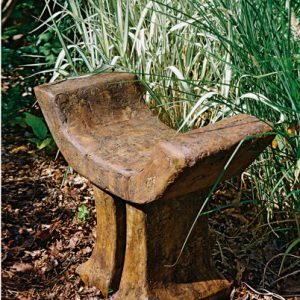 Buddhist Temple Seat, stained concrete furniture for outdoor garden or patio