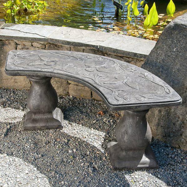 Butterfly Bench - Curved garden bench