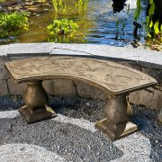 Dragonfly Bench - Curved garden