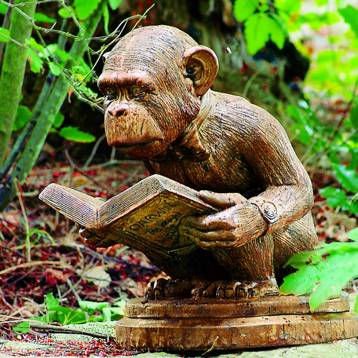 Enlightened Ape lawn ornament
