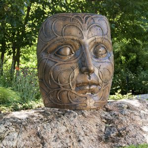 Fern Princess, stained concrete face for outdoor garden or patio