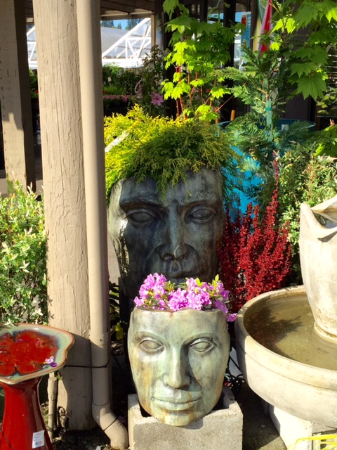 Medium Young Emperor & Mother Nature Planters,concrete planters for the garden and patio