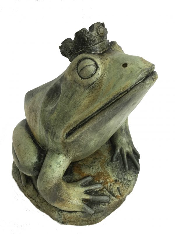 Frog Prince concrete animal statue for garden pond
