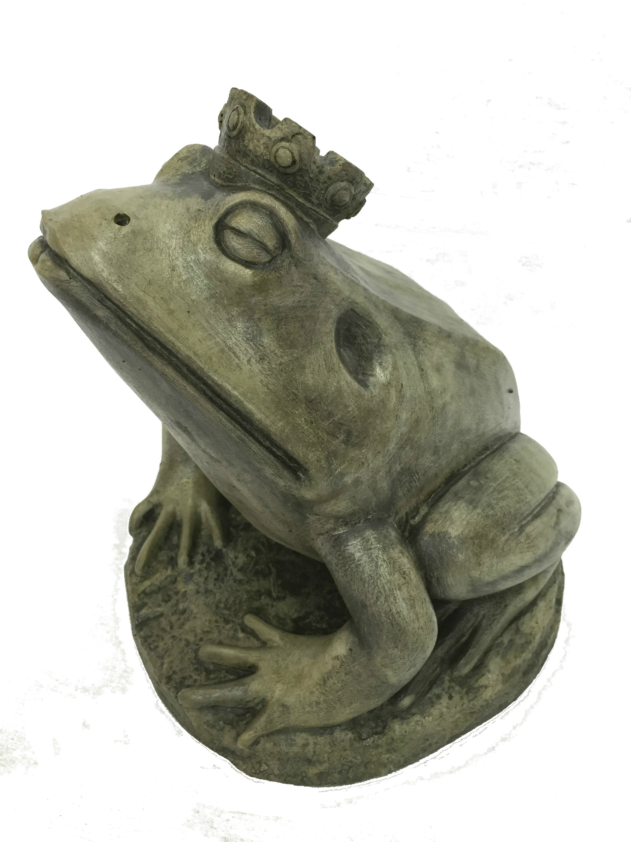 Frog Prince concrete animal sculpture for garden pond