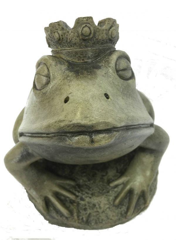Frog Prince concrete animal statue for yard pond