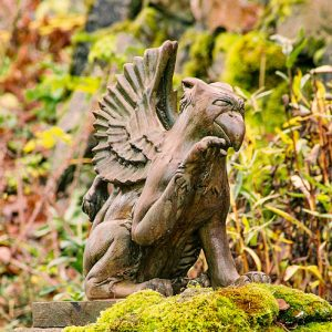 Griffin garden ornament