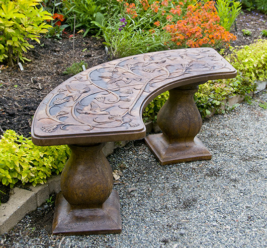 Hummingbird Collection of Garden Benches Birdbaths Planters