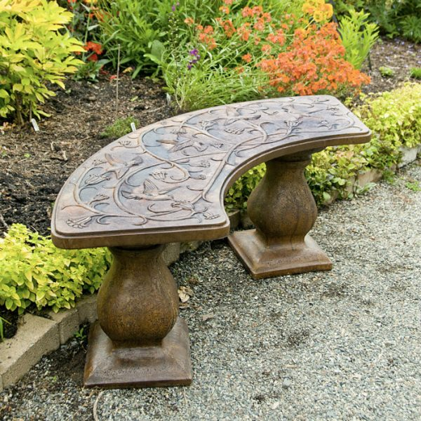 Hummingbird Bench - Curved garden
