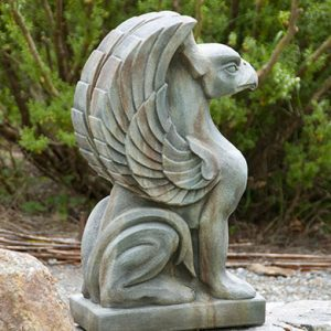 Large Griffin Gargoyle medieval concrete statue for garden