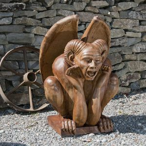 Large Ramsis Gargoyle medieval concrete statue for ancient garden