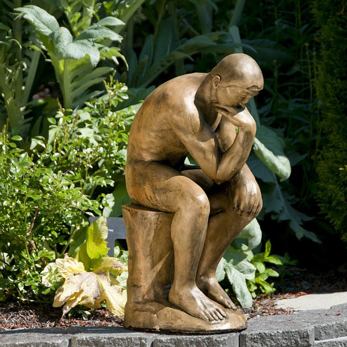 Large Rodin's the Thinker garden ornament