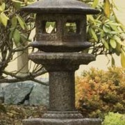 Mini Japanese Lantern - Kobe, acid stained statue for garden or patio