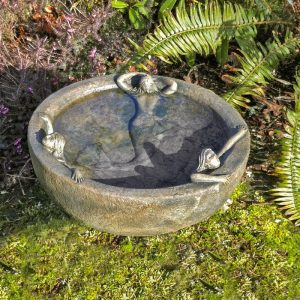 Mermaid Bowl birdbath garden
