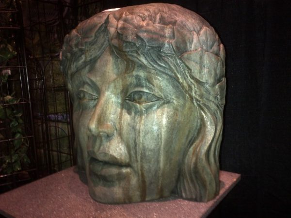 Princess of the Garden acid stained concrete face for garden or patio
