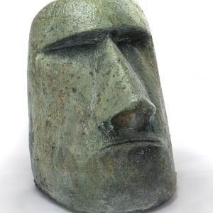 Rapa Nui Face Small, stained concrete face for outdoor garden or patio