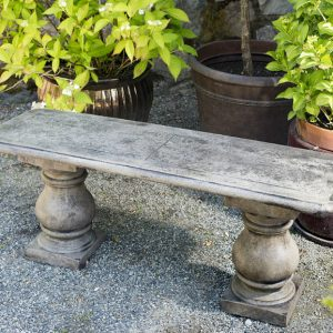 Slate Inlaid Bench garden