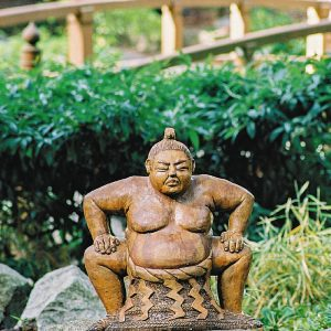 Sumo Wrestler garden ornament