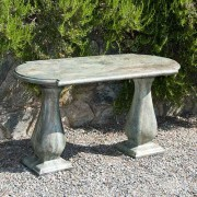 Traditonal Colonial Console Table, stained concrete furniture for outdoor garden or patio