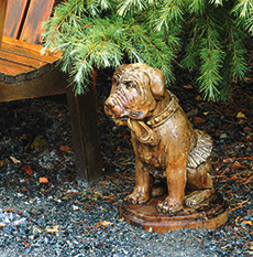 Tutu Dog concrete animal statue for garden