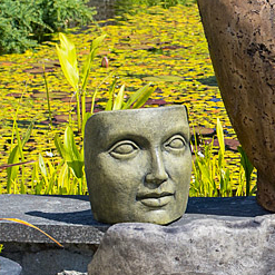 Tabletop Portrait of Mother Nature garden face