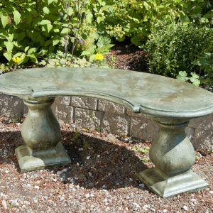 Traditional Colonial Bench - Curved garden
