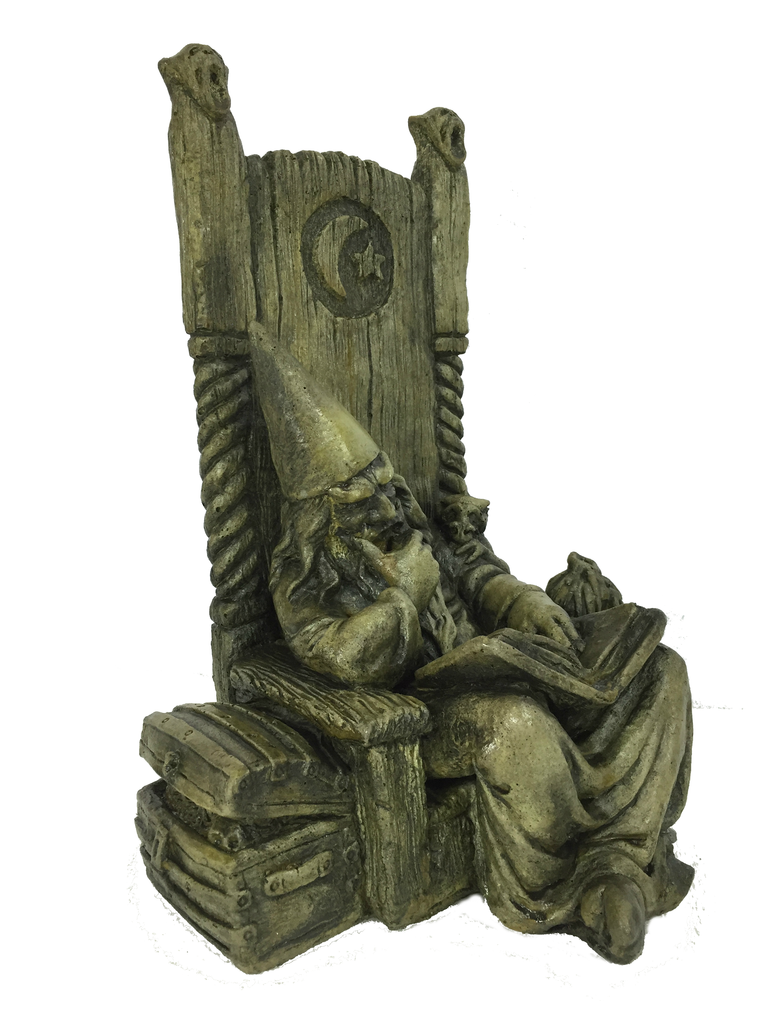 Merlin the Wizard, concrete statue for garden