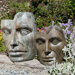Young Emperor Large and Medium,stained concrete faces for outdoor garden or patio