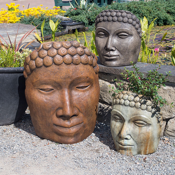 Buddha Faces for the garden