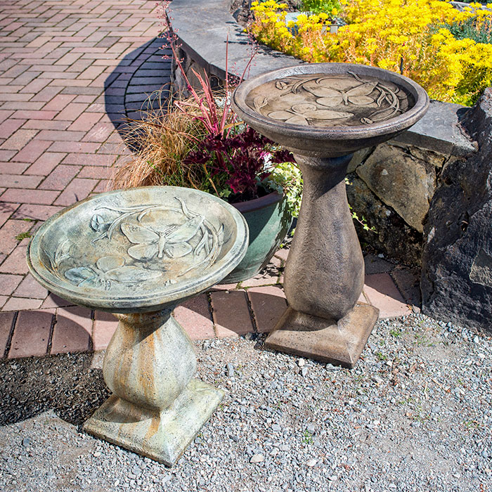 Butterfly Birdbaths Tall & Small