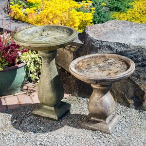 Frog Birdbaths Tall and Small concrete for garden