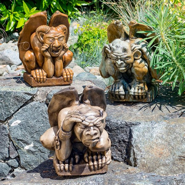 See no evil, speak no evil, hear no evil gargoyles