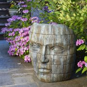Giant Lapidus Face, large ornamental concrete,outdoor statue,brick