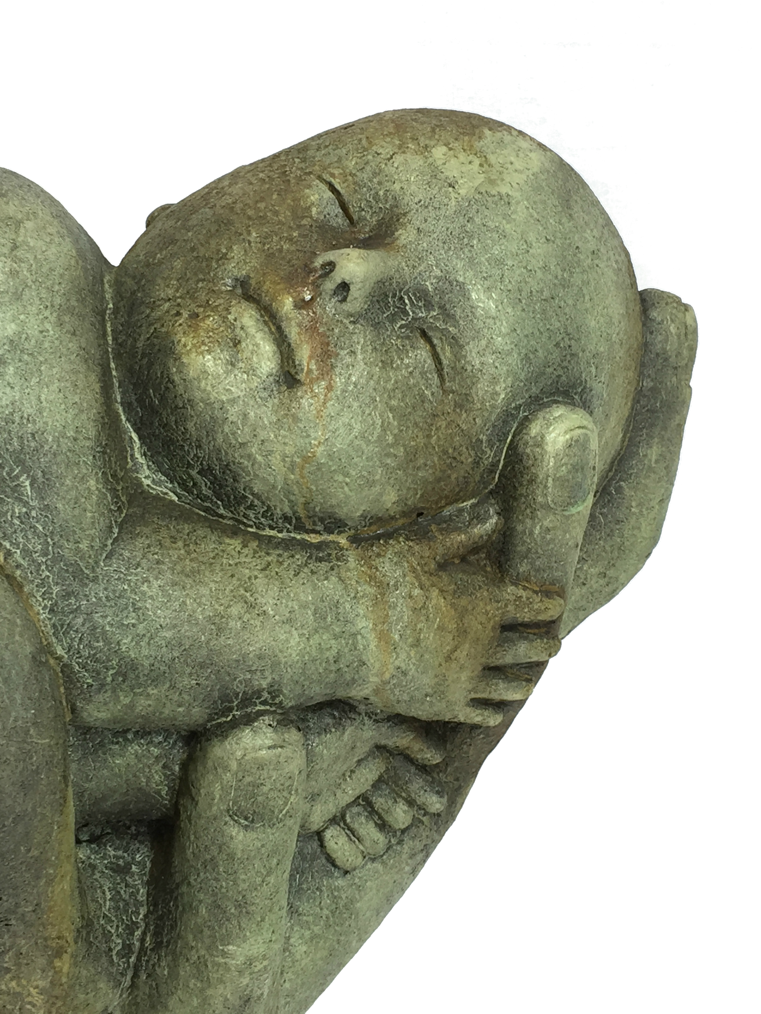Nature's Infant, mother nature holding baby statue