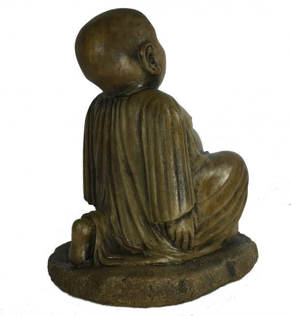 Yoga Buddha Lunge concrete statue for asian garden