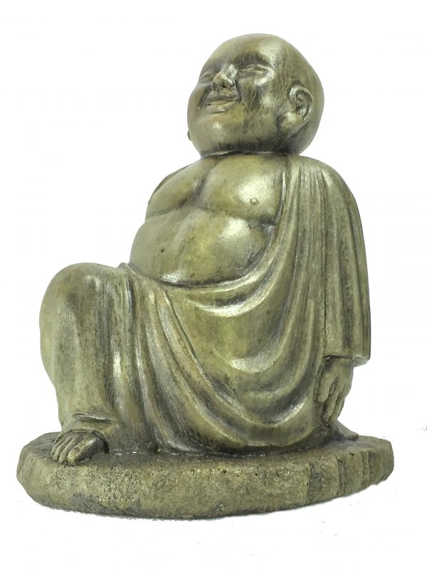 Yoga Buddha Lunge concrete sculpture for asian garden