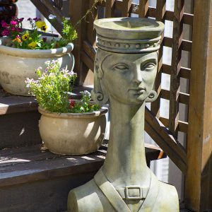 Hortus Rex Birdbath, concrete torso for patio, garden