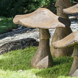 "Mushroom 21"" ornamental concrete garden yard art"