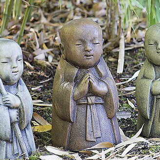 Jizo Bosatsu Child - The Preacher concrete Buddha garden ornament, statue