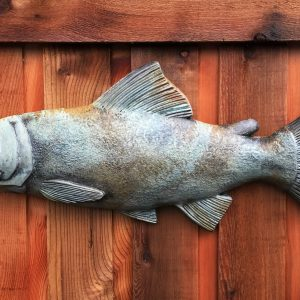 Student Fish hanging wall plaque for the garden