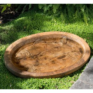 Fisherman's Bowl, concrete birdbath