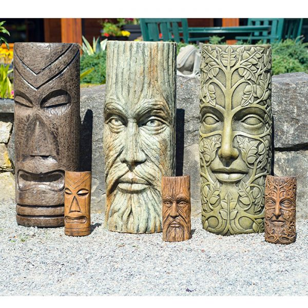Polynesian Tiki, Treeman & Leaf Maiden Mask Large & Small