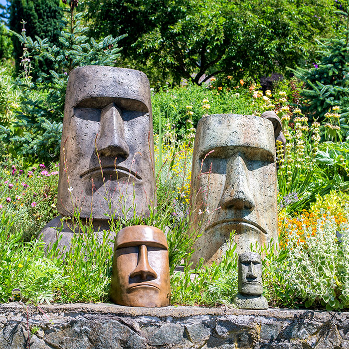 Rapa Nui Face Collection for the garden Easter Island