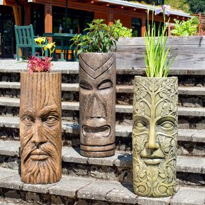 Treeman, Polynesian Tiki & Leaf Maiden Mask Pot Holders