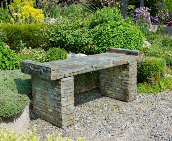 Concrete Bench,Classic concrete statuary, Patio furniture, stained bench,
